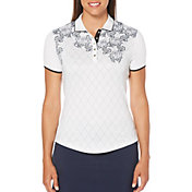Callaway Women's Ventilated Lace Argyle Golf Polo