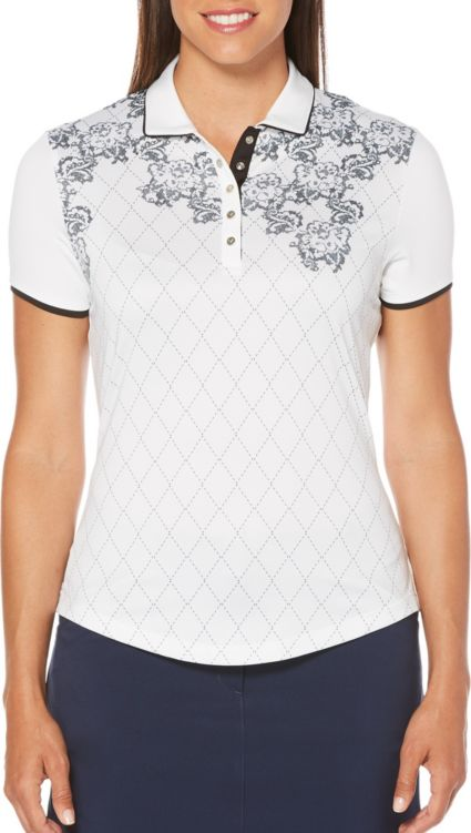 Callaway Women's Ventilated Lace Argyle Golf Polo