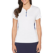 Callaway Women's Ventilated Print Mesh Panels Golf Polo