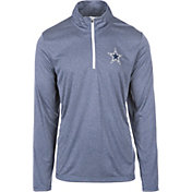 Dallas Cowboys Merchandising Men's Arnie Blue Quarter-Zip Pullover