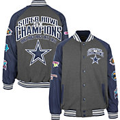 Dallas Cowboys Merchandising Men's Commemorative Grey Varsity Jacket