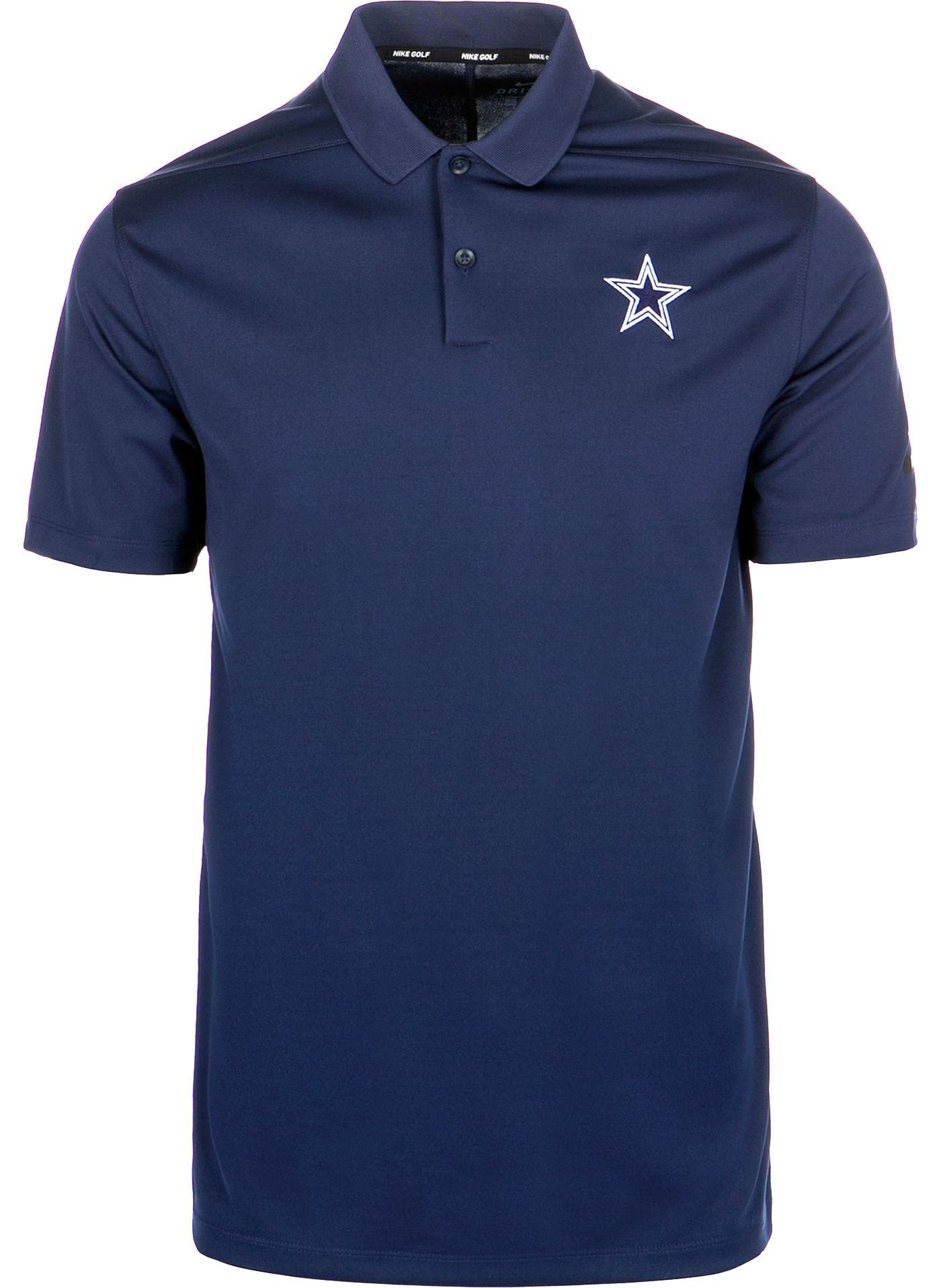 Nike Men's Dallas Cowboys Victory Golf Navy Polo