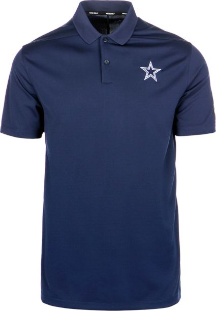 Nike Men's Dallas Cowboys Victory Golf Navy Polo