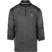 Dallas Cowboys Merchandising Men's Daze Quarter-Zip Granite Pullover