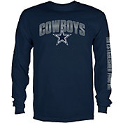 Dallas Cowboys Merchandising Men's Reflex Navy Long Sleeve Shirt