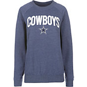 Dallas Cowboys Merchandising Women's Colbra Navy Fleece Crew Sweatshirt