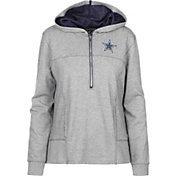 Dallas Cowboys Merchandising Women's Portia Glitter Quarter-Zip Hoodie