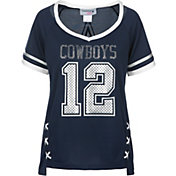 Dallas Cowboys Merchandising Women's Vixen Navy Jersey Shirt