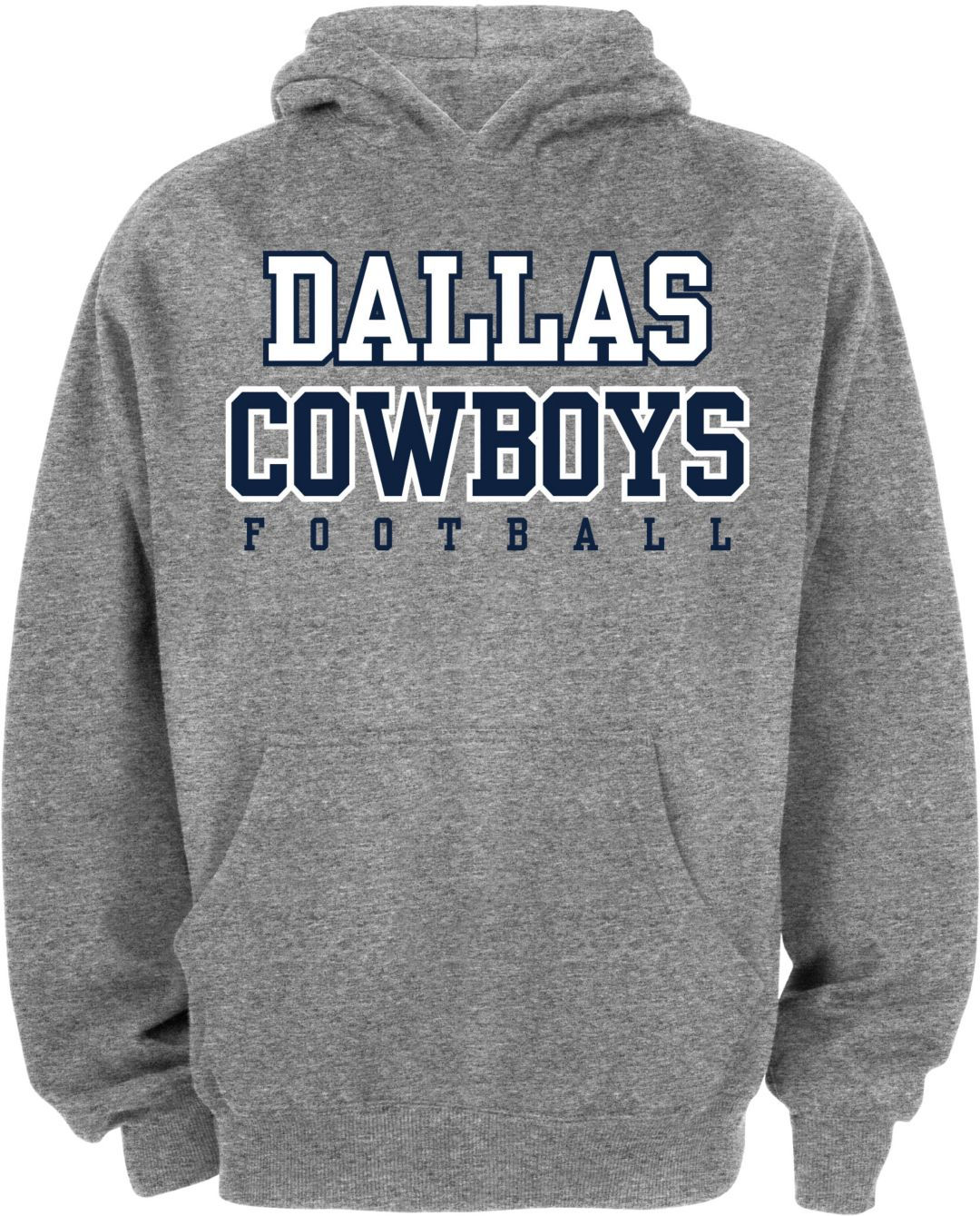 separation shoes 64c6d 4025e Dallas Cowboys Merchandising Youth Grey Practice Hoodie
