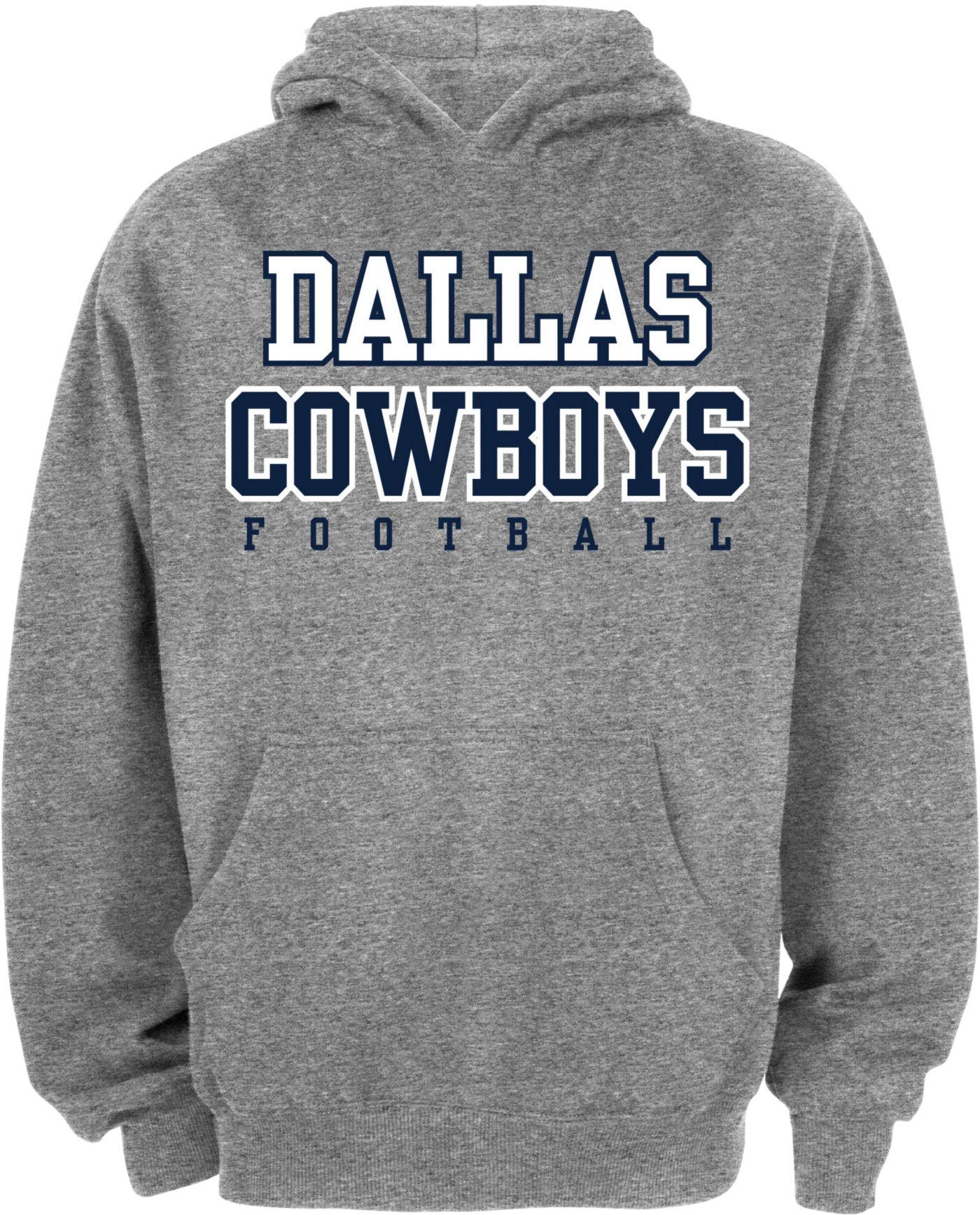 Dallas Cowboys Merchandising Youth Grey Practice Hoodie