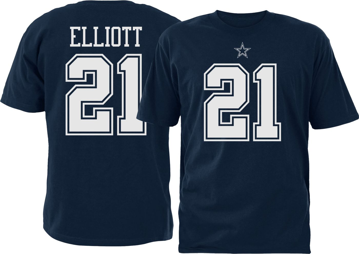 Dallas Cowboys Merchandising Youth Ezekiel Elliott #21 Pride Navy T-Shirt