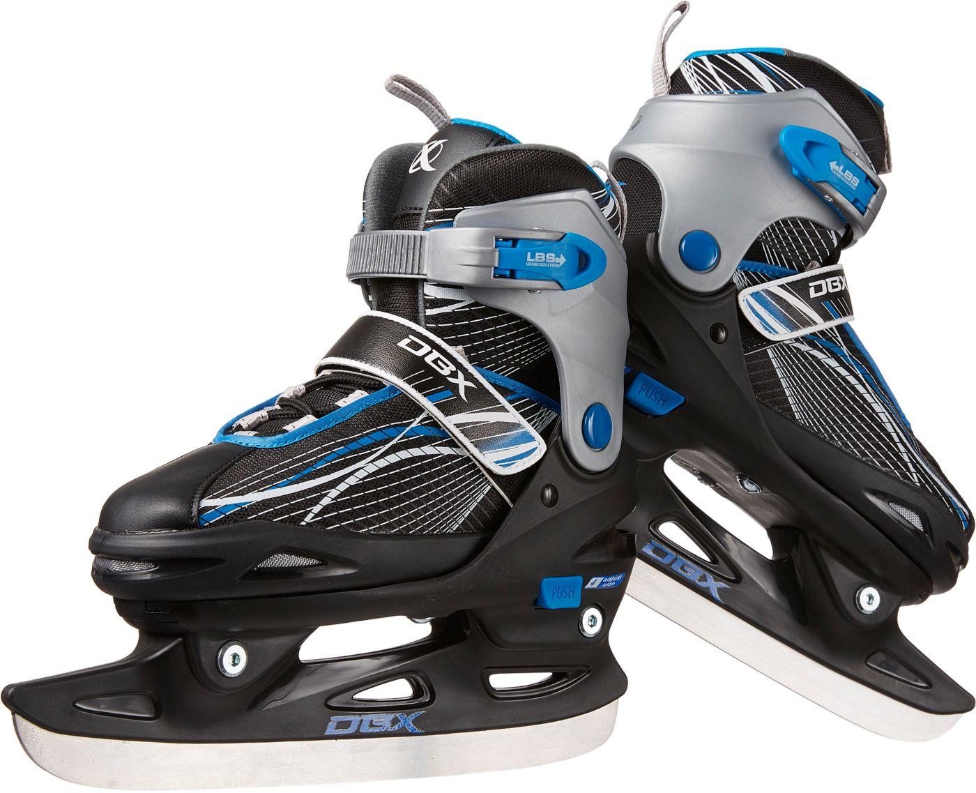 DBX Boy's Adjustable Ice Skates