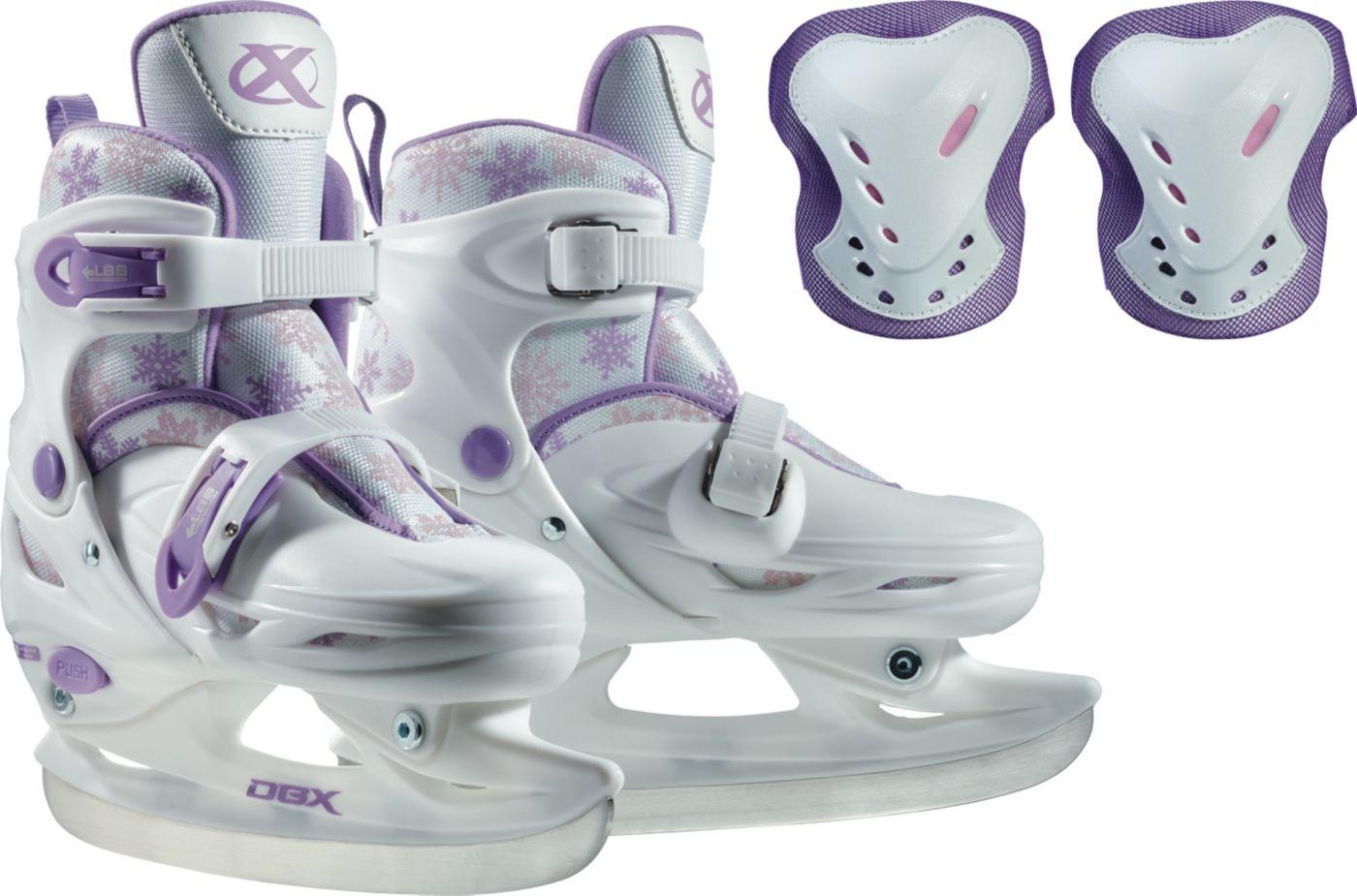 DBX Girls' Adjustable Skates Package