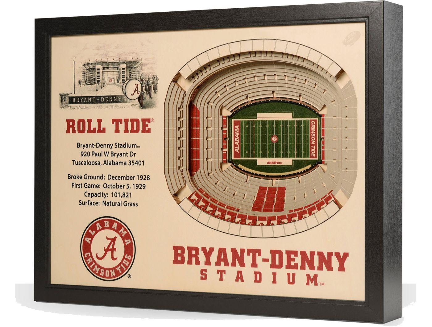 You the Fan Alabama Crimson Tide 25-Layer StadiumViews 3D Wall Art