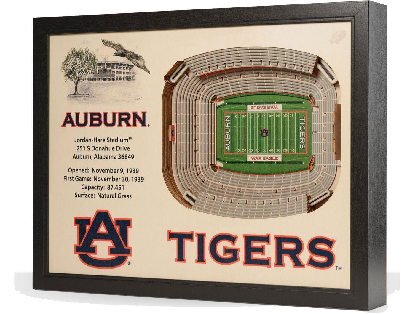 You the Fan Auburn Tigers 25-Layer StadiumViews 3D Wall Art