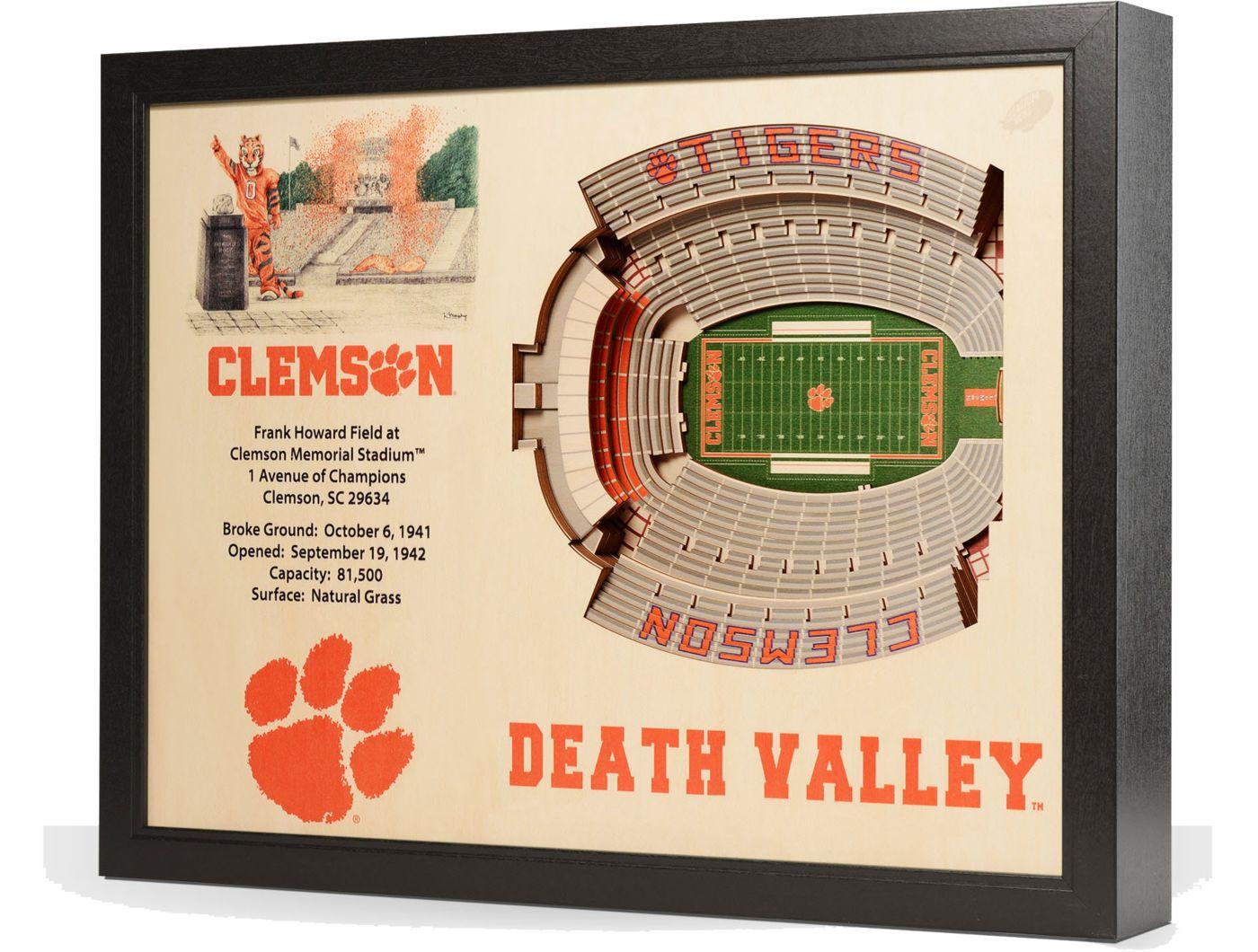 You the Fan Clemson Tigers 25-Layer StadiumViews 3D Wall Art