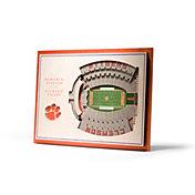You the Fan Clemson Tigers 5-Layer StadiumViews 3D Wall Art