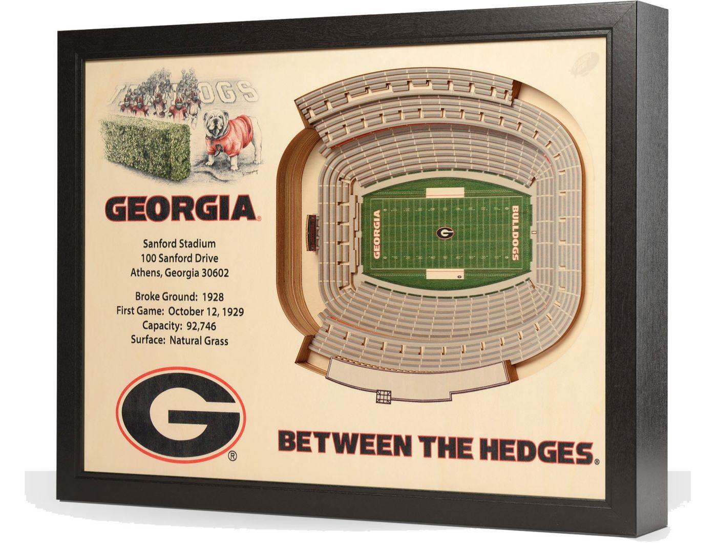 You the Fan Georgia Bulldogs 25-Layer StadiumViews 3D Wall Art