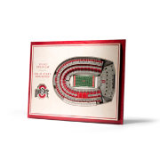 You the Fan Ohio State Buckeyes 5-Layer StadiumViews 3D Wall Art
