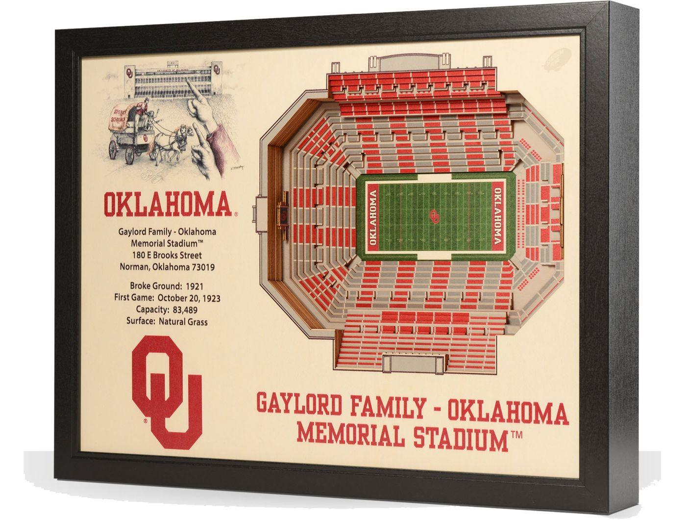 You the Fan Oklahoma Sooners 25-Layer StadiumViews 3D Wall Art
