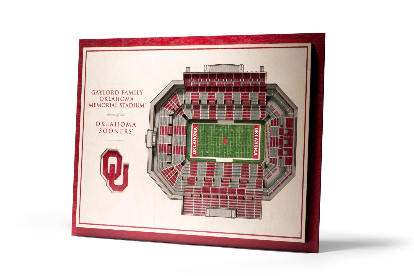 You the Fan Oklahoma Sooners 5-Layer StadiumViews 3D Wall Art