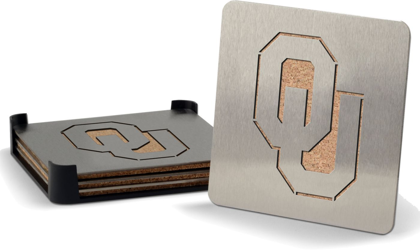 You the Fan Oklahoma Sooners Coaster Set