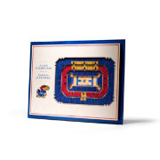 You the Fan Kansas Jayhawks 5-Layer StadiumViews 3D Wall Art