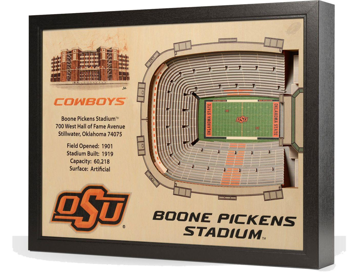 You the Fan Oklahoma State Cowboys 25-Layer StadiumViews 3D Wall Art