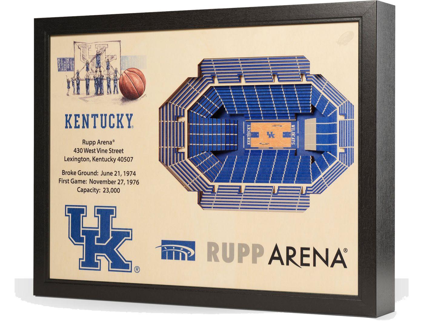 You the Fan Kentucky Wildcats 25-Layer StadiumViews 3D Wall Art