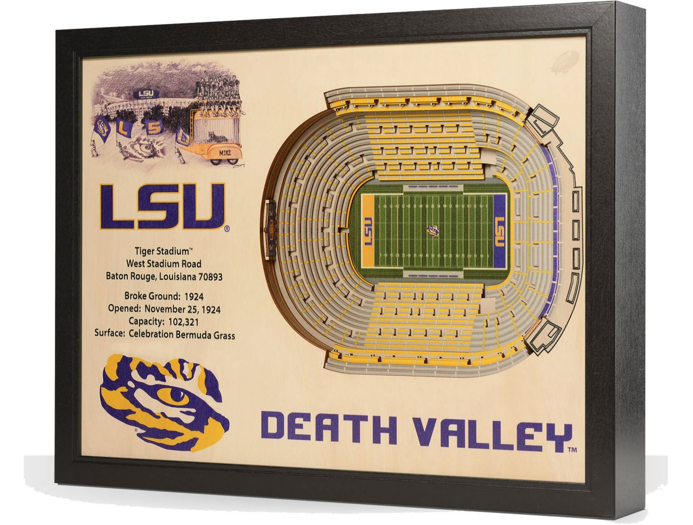 You the Fan LSU Tigers 25-Layer StadiumViews 3D Wall Art