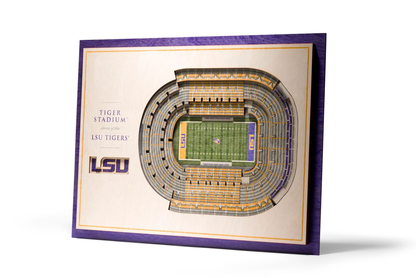 You the Fan LSU Tigers 5-Layer StadiumViews 3D Wall Art