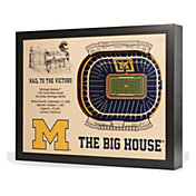 You the Fan Michigan Wolverines 25-Layer StadiumViews 3D Wall Art