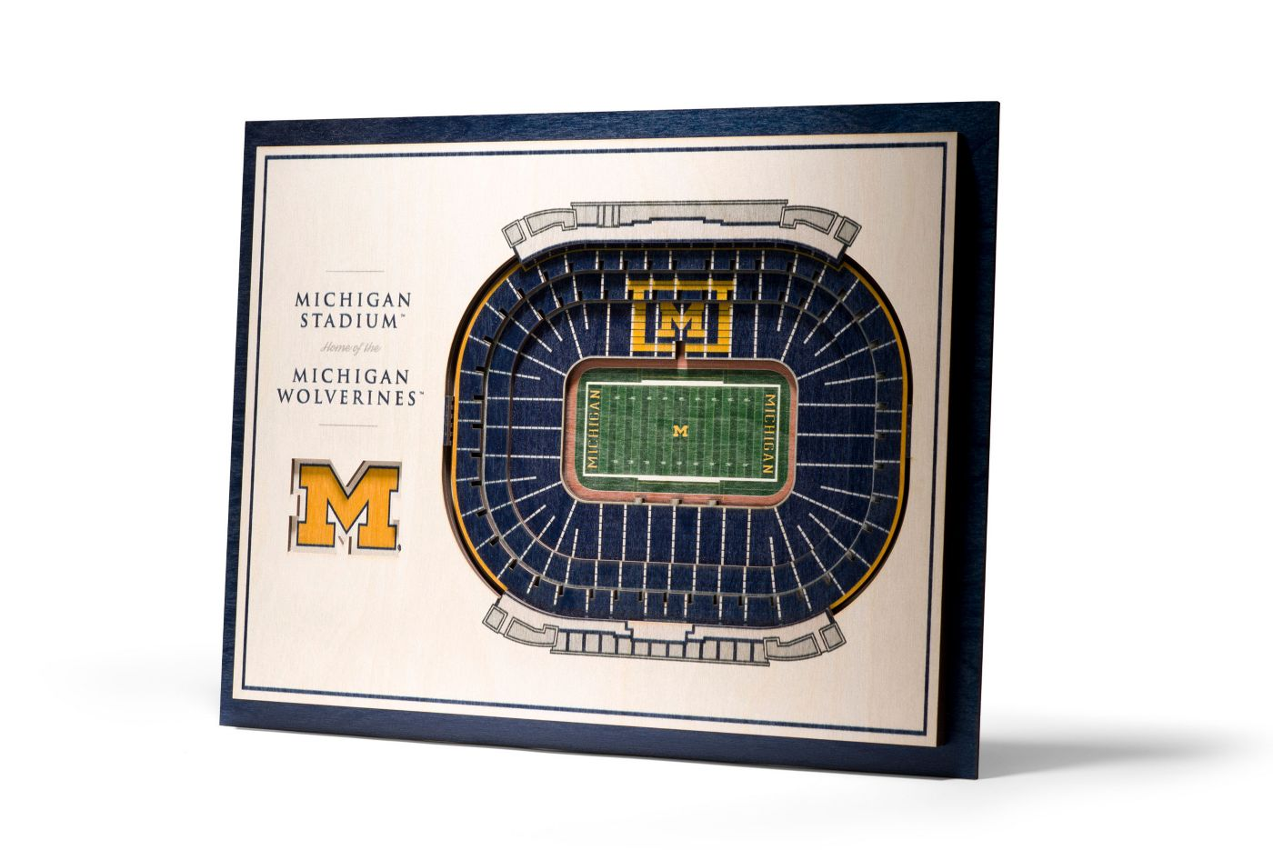 You the Fan Michigan Wolverines 5-Layer StadiumViews 3D Wall Art