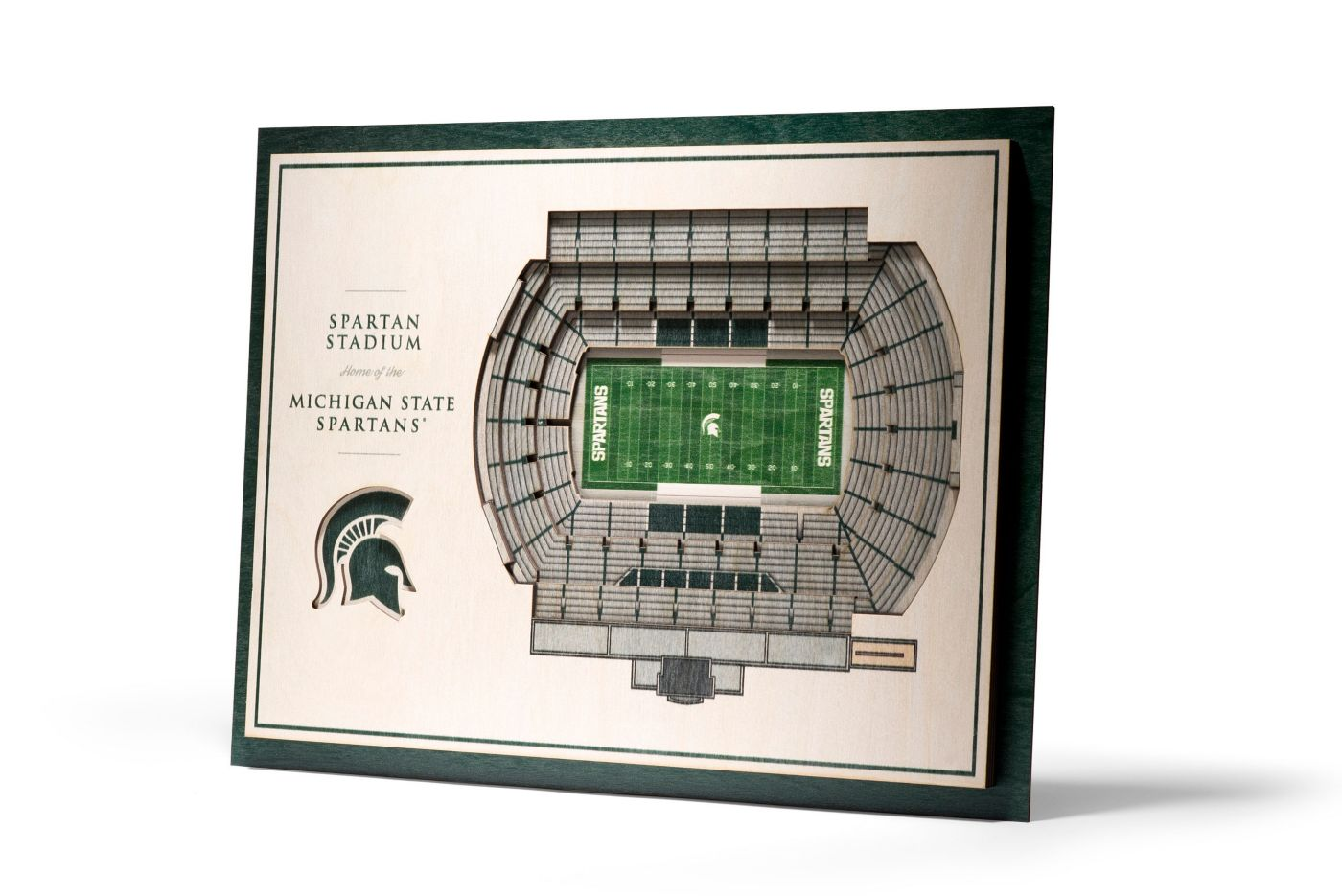You the Fan Michigan State Spartans 5-Layer StadiumViews 3D Wall Art