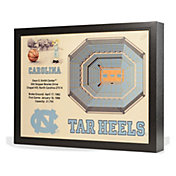 You the Fan North Carolina Tar Heels 25-Layer StadiumViews 3D Wall Art