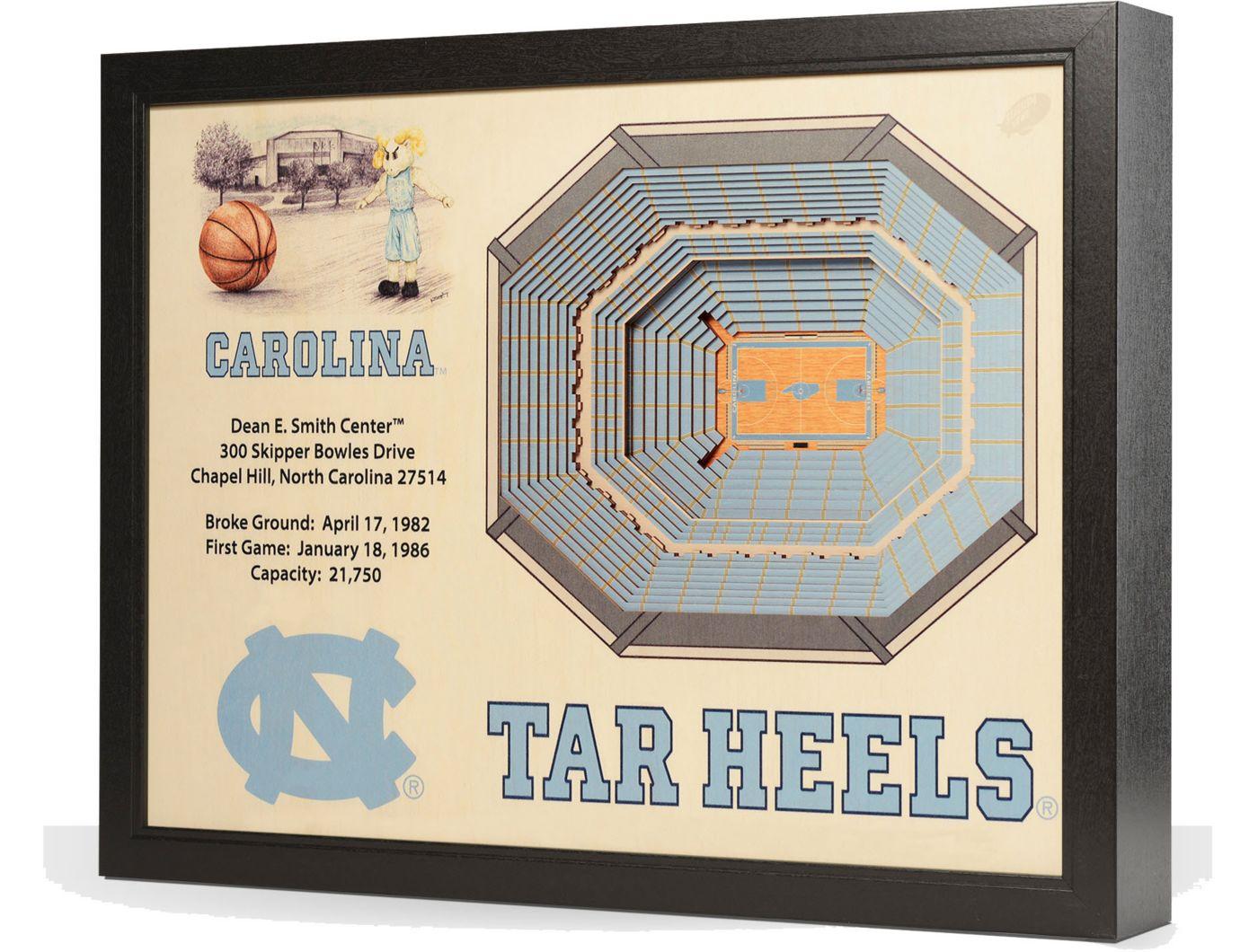 You the Fan North Carolina Tar Heels 25-Layer StadiumViews 3D Wall Art