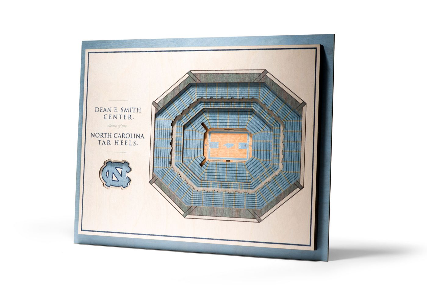 You the Fan North Carolina Tar Heels 5-Layer StadiumViews 3D Wall Art