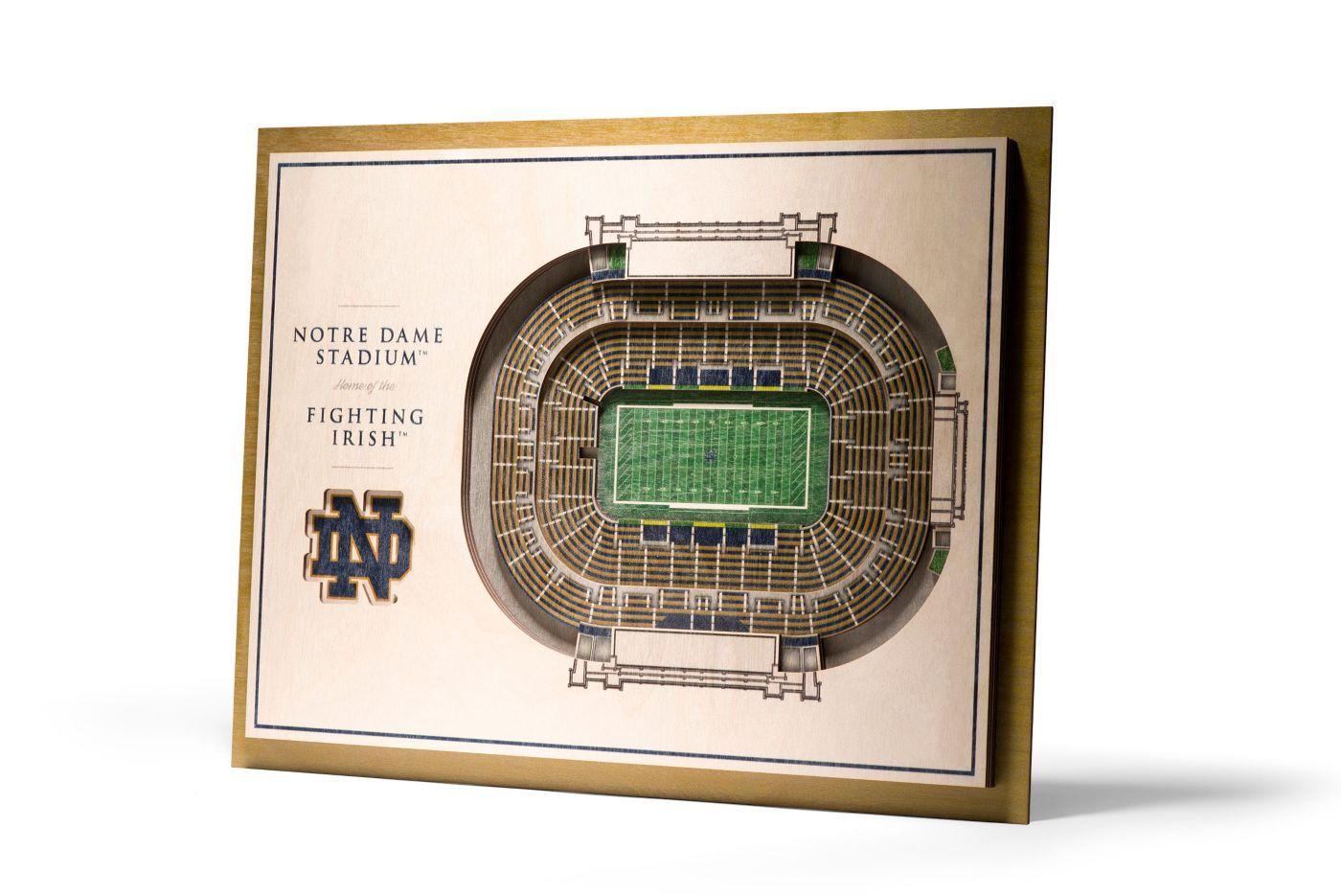 You the Fan Notre Dame Fighting Irish 5-Layer StadiumViews 3D Wall Art