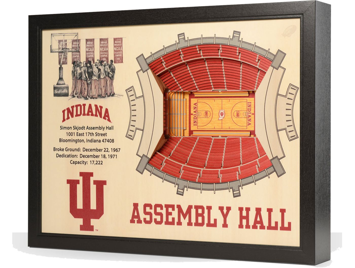 You the Fan Indiana Hoosiers 25-Layer StadiumViews 3D Wall Art