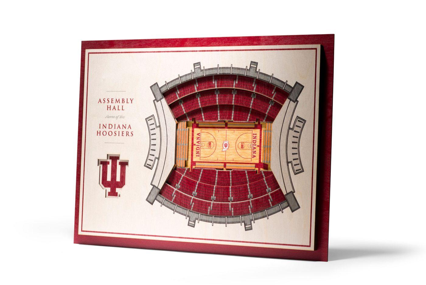You the Fan Indiana Hoosiers 5-Layer StadiumViews 3D Wall Art