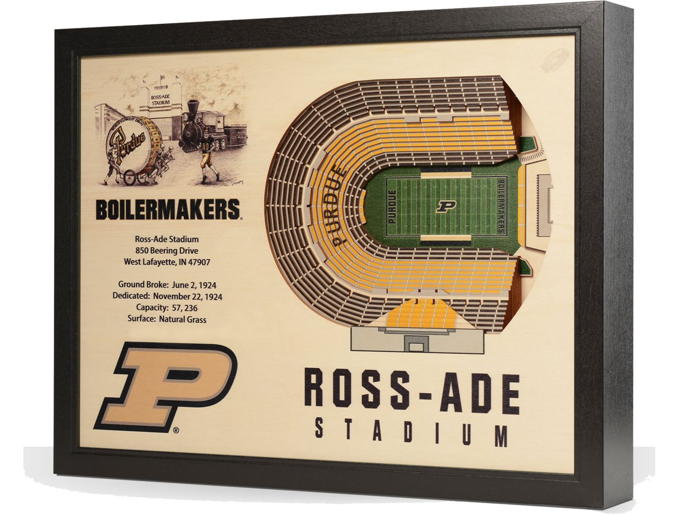 You the Fan Purdue Boilermakers 25-Layer StadiumViews 3D Wall Art