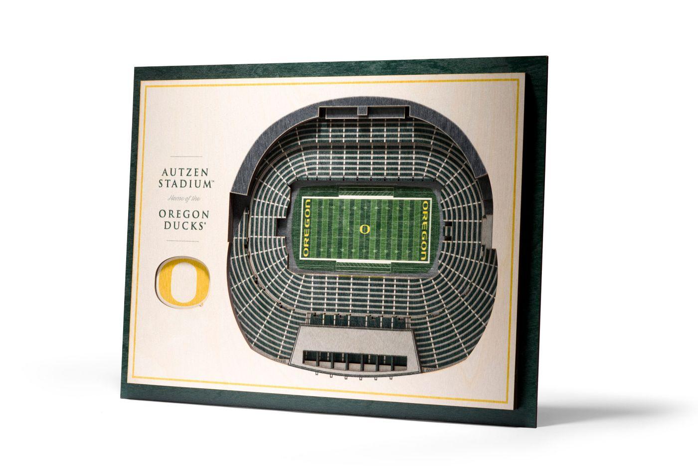 You the Fan Oregon Ducks 5-Layer StadiumViews 3D Wall Art