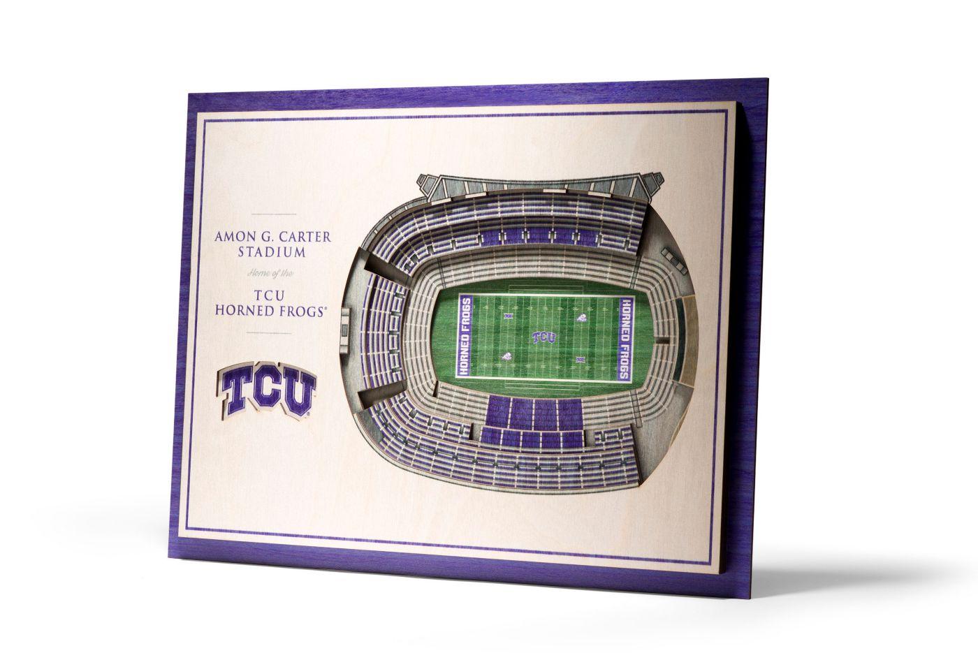 You the Fan TCU Horned Frogs 5-Layer StadiumViews 3D Wall Art