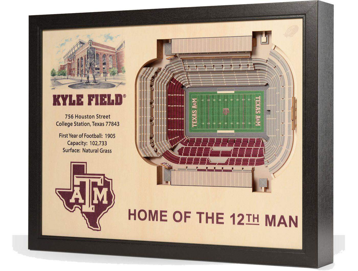 You the Fan Texas A&M Aggies 25-Layer StadiumViews 3D Wall Art