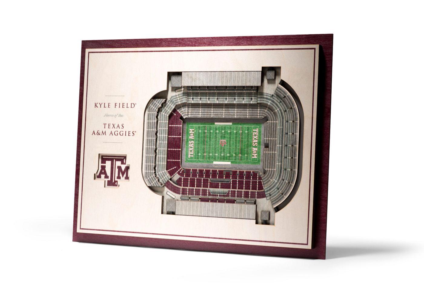 You the Fan Texas A&M Aggies 5-Layer StadiumViews 3D Wall Art