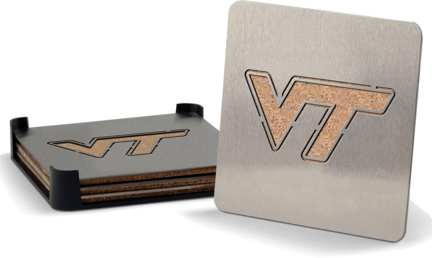 You the Fan Virginia Tech Hokies Coaster Set