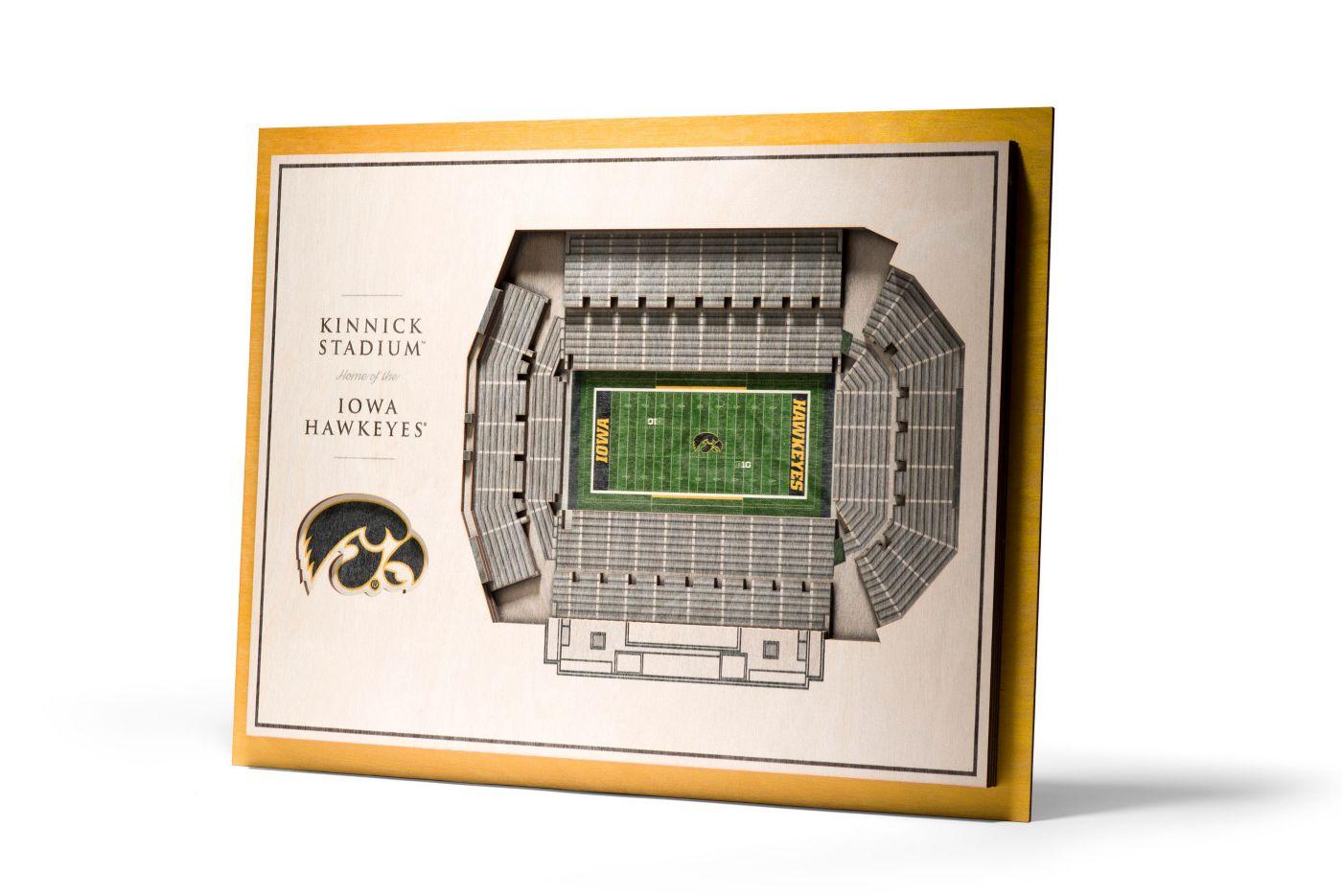 You the Fan Iowa Hawkeyes 5-Layer StadiumViews 3D Wall Art