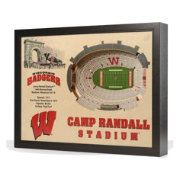 You the Fan Wisconsin Badgers 25-Layer StadiumViews 3D Wall Art