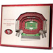 You the Fan San Francisco 49ers 5-Layer StadiumViews 3D Wall Art