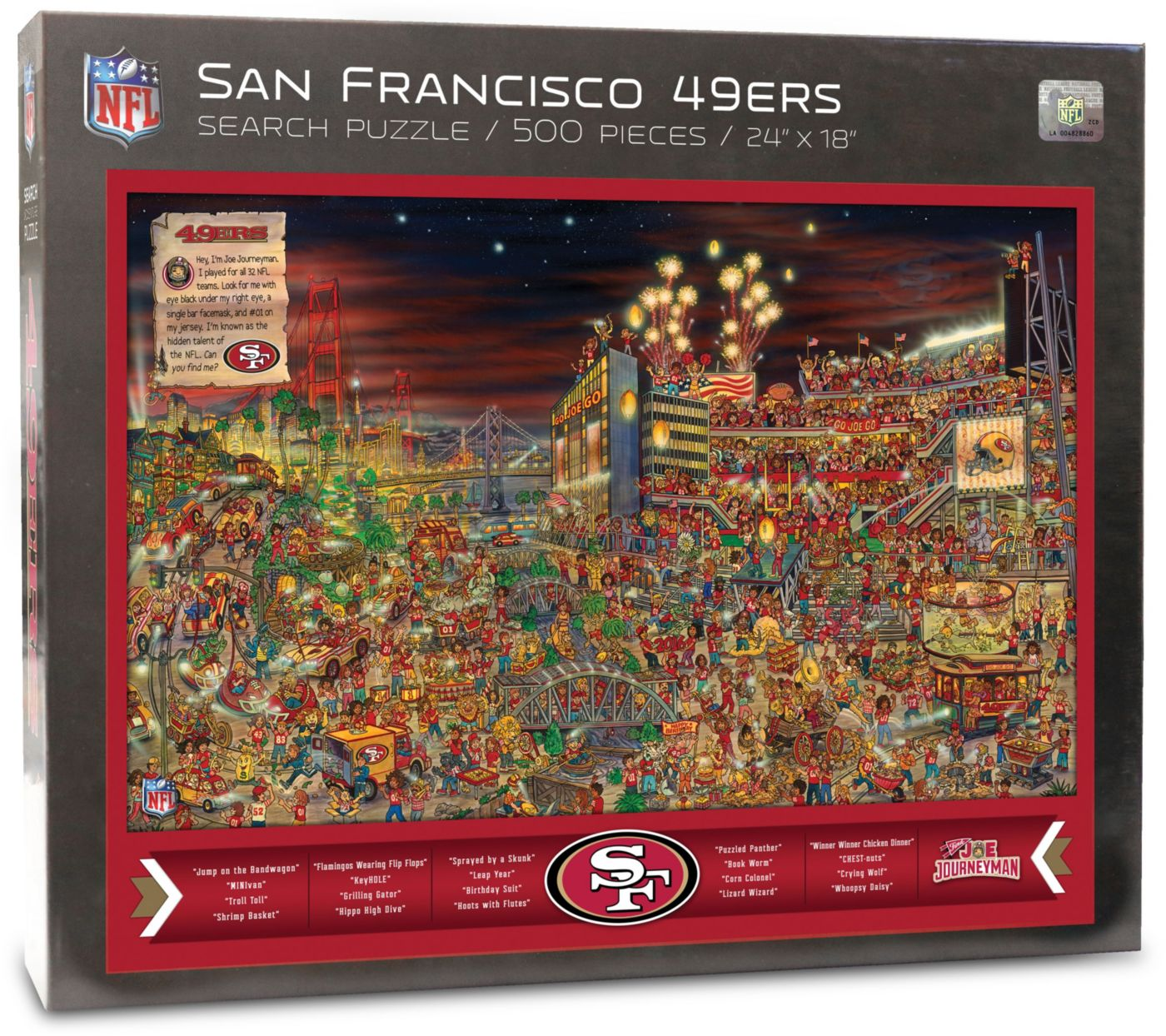 You the Fan San Francisco 49ers Find Joe Journeyman Puzzle
